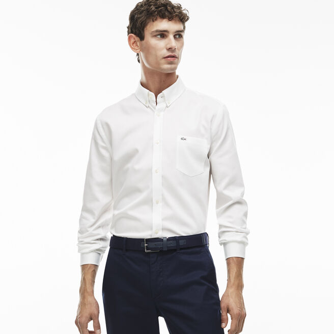 Men's Mini Piqué  Cotton Shirt