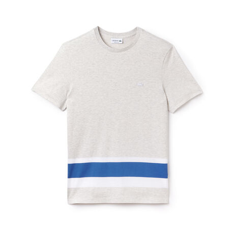 Men's Crew Neck Colorblock Band Jersey T-Shirt