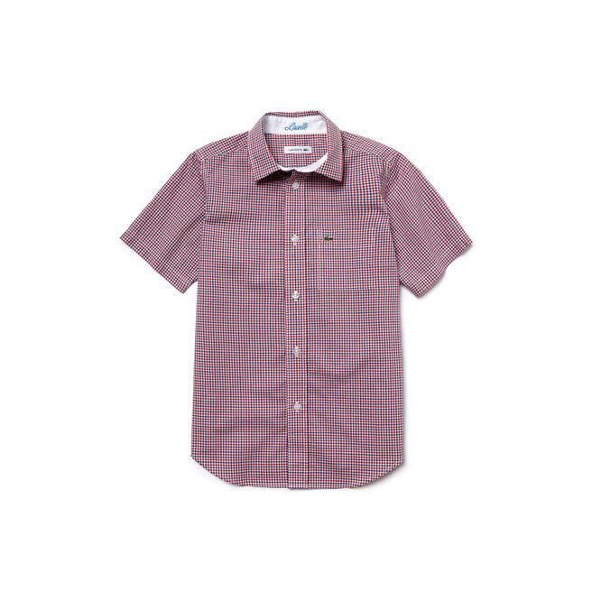 Kid's Gingham Poplin Shirt