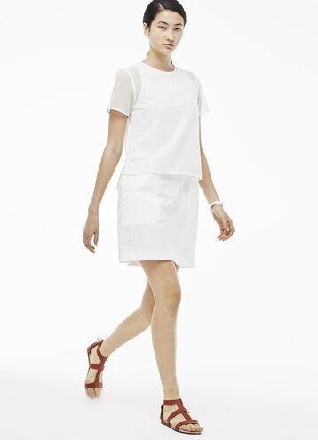 Women's Mesh Layer T- Shirt Dress