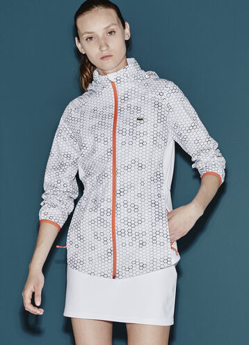 Women's SPORT Geometric Printed Taffeta Jacket