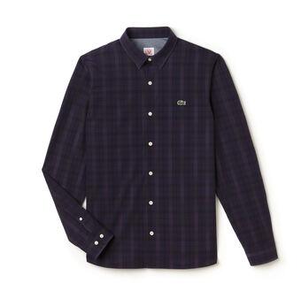Men's Lacoste L!VE Slim Fit Graphic Check Shirt