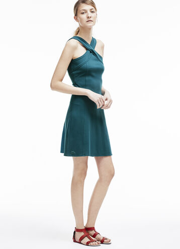 Women's Criss Cross Fit and Flare Dress