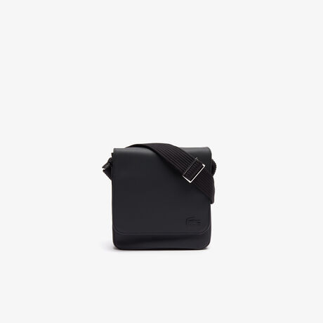 라코스테 메신저백 Lacoste Mens Classic Petit Pique Flap Bag,black