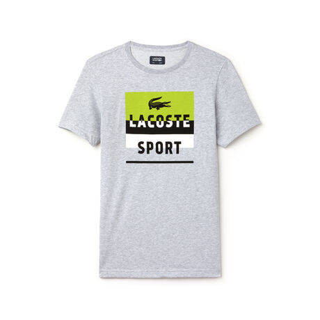 Men's SPORT Print And Lettering Jersey Tennis T-shirt