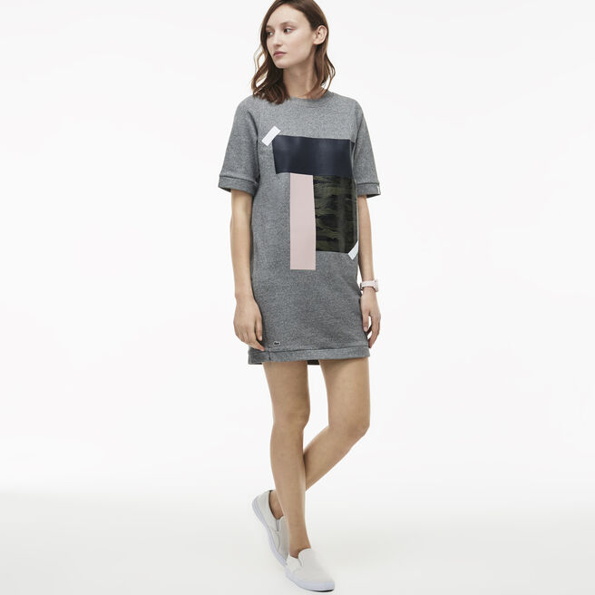 Women's L!VE Colorblock Patch Fleece T-shirt Dress