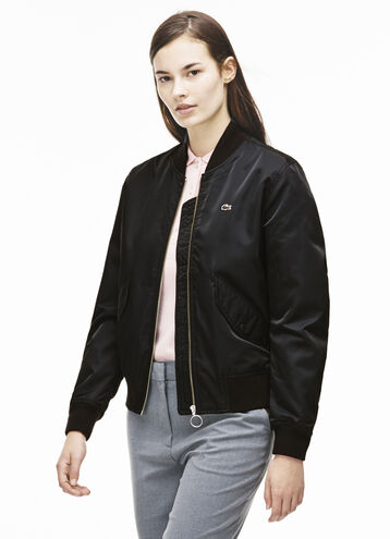 Women's L!VE Print Twill Bomber Jacket