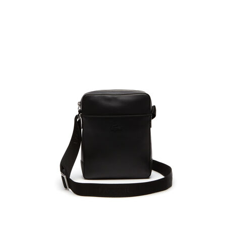 라코스테 풀 에이스 메신저백 블랙 Lacoste Mens Full Ace Soft Leather Bag,black