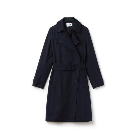 Women's Belted Gabardine Trench Coat