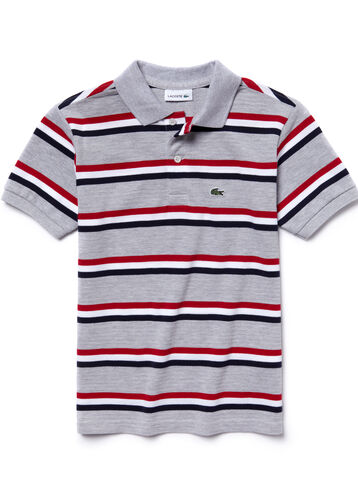 Boy's Thin Stripe Polo