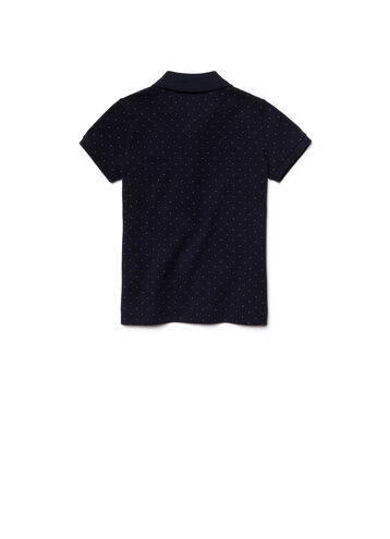 Kids' Embroidered Piqué Polka Dot Polo Shirt