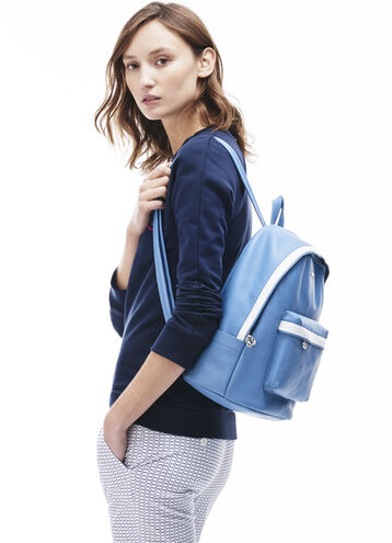 Women's Break Point Colorblock Leather Backpack