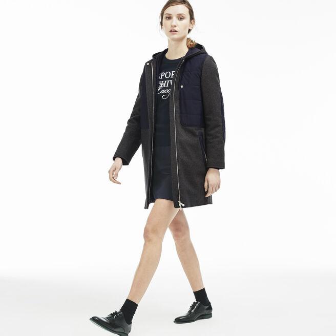 Women's Wool Mix Padded Coat
