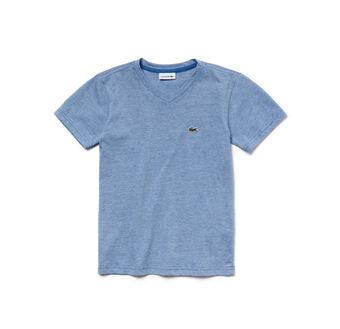 Boy's Striped Cotton V-Neck T-Shirt
