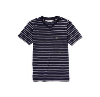 Boy's V-Neck Striped Tee