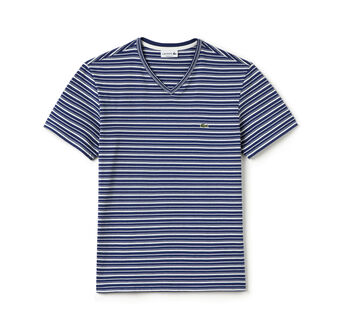 Men's Stripe V-Neck T-Shirt