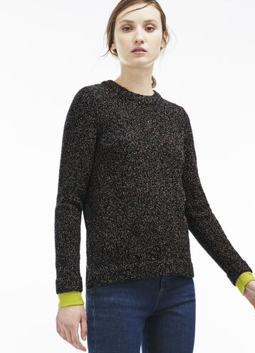 Women's Multi Print Cotton and Wool Sweater