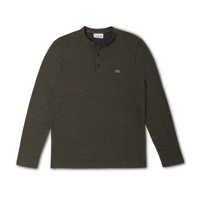 Men's Textured Henley T-Shirt