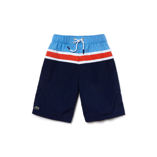 Boy's Color Block Swim Trunks