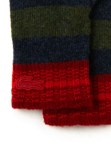 Women's Multicolored Stripe Mouliné Jersey Gloves