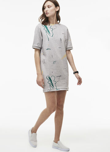 Women's LIVE Doodle Print Sweatshirt Dress