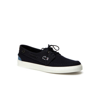 Men's Sumac Leather And Nubuck Boat Shoes