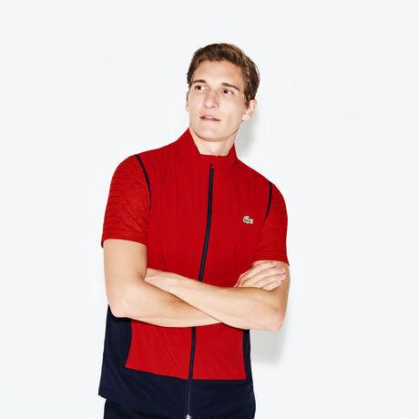 라코스테 스포츠 베스트 Lacoste Mens SPORT Technical Golf Quilted Vest,red/navy blue
