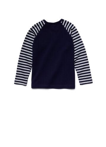 Kids' Long Sleeve Stripe Raglan Piqué T-Shirt