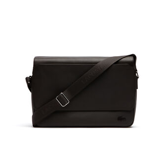 Men's Rafael Monochrome Leather Flap Messenger Bag