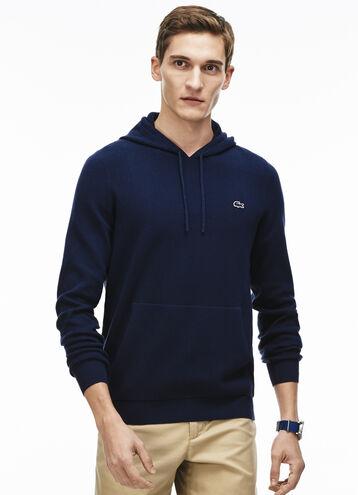 Men's Hooded Cotton Milano Knit Sweatshirt