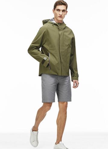 Men's Water-Resistant Nylon Hooded Parka