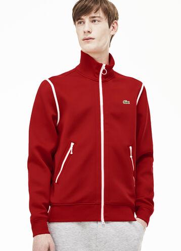 Men's Lacoste L!VE Zip Sweatshirt With Contrast Accents