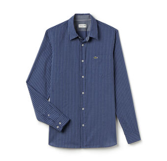 Men's Stripe Poplin Woven Shirt