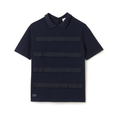 Women's L!VE Mini Pleated Stripe Polo Shirt