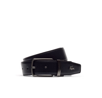 Reversible belt in smooth perforated leather