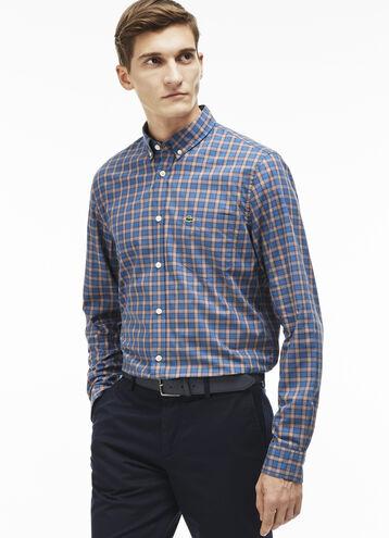 Men's Multicolor Plaid Woven Shirt