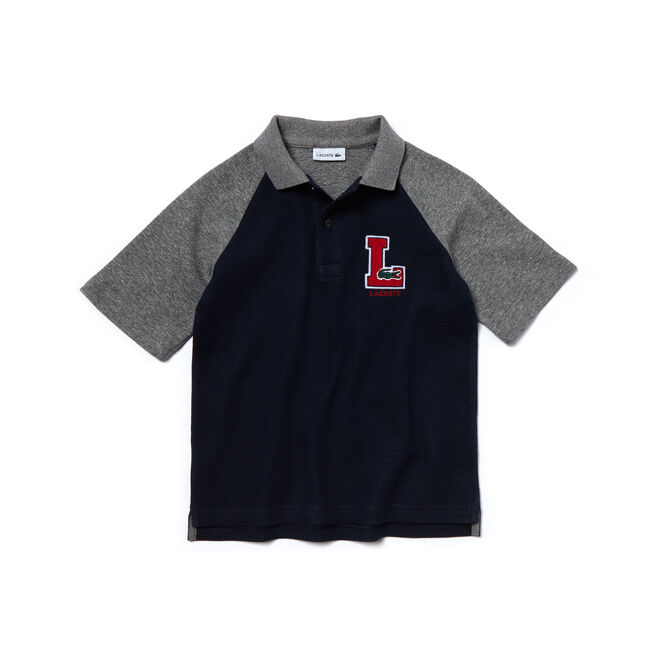 Kids'  Contrast Sleeves Jersey Piqué Polo Shirt
