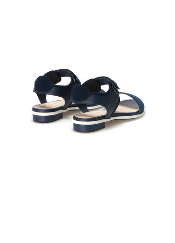Women's Lonelle Flat Leather Velcro Sandals