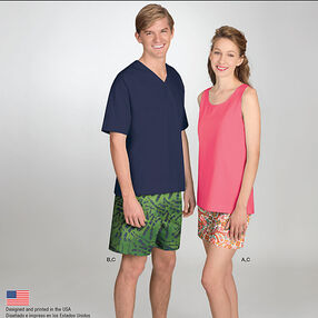 It's So Easy Misses' & Men's Shorts and Tops