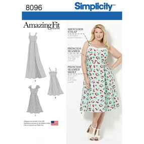 Simplicity Pattern 8096 Amazing Fit Plus Size Dresses