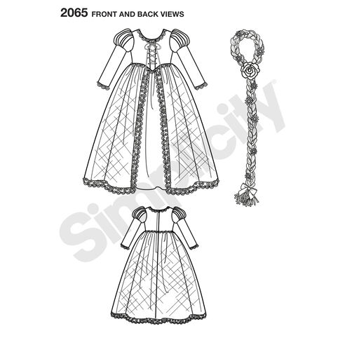 Pattern for Disney Princess Tangled Costumes for Children