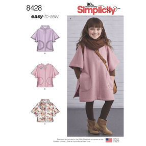 Pattern 8428 Child's Poncho in Two Lengths