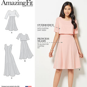 Amazing Fit Misses Dress in Slim, Average and Curvy Fit