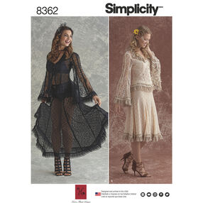 Simplicity Pattern 8362 Misses' Lace Blouse and Skirt In Two Styles