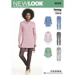 New Look Pattern 6529 Misses' Knit Tunics and Leggings