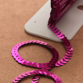 """8yd. of 1/4"""" Flat Single Strand Sequin"""