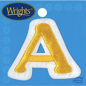 Small Letter Iron-On Applique, Yellow