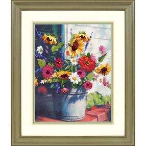 Bucket of Flowers, Embroidery_01534
