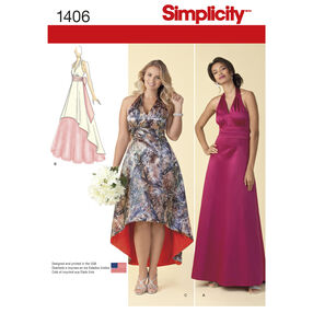Simplicity Pattern 1406 Misses' and Plus Size Special Occasion Dress