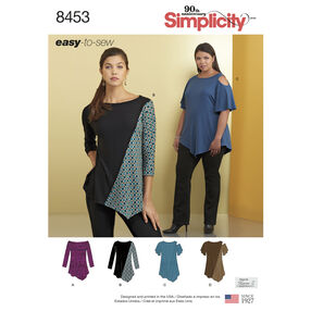 Simplicity Pattern 8453 Misses' Knit Tops